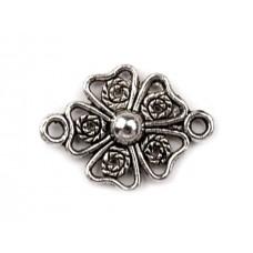 Metall Zwischenstück - Blume - platine