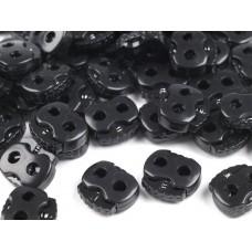 Kordelstopper mit 2 Löchern 20x20 mm - schwarz