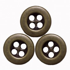 Metallknöpfe Größe 11,5 mm - antik messing