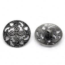 Metall Öseknöpfe Größe 23 mm - antik silber