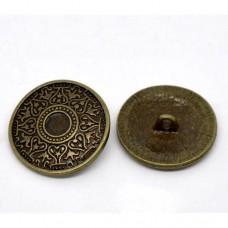 Metall Öseknöpfe Größe 25 mm - bronze