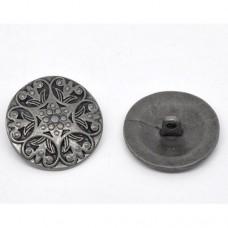 Metall Öseknöpfe Größe 25 mm - antik silber