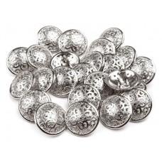 Metallknöpfe Größe 17,6 mm - silber