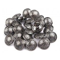 Metallknöpfe Größe 17,6 mm - nickel antik