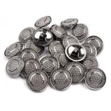 Metallknöpfe Größe 17,7 mm - nickel antik