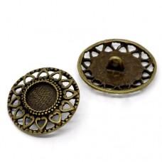 Metallknöpfe Größe 29x27 mm - bronze
