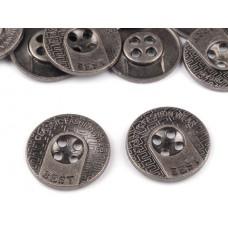Metallknöpfe Größe 20 mm - nickel antik