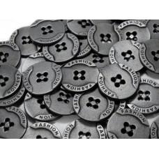 Metallknöpfe Größe 20,3 mm - nickel antik