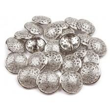 Metallknöpfe Größe 21,6 mm - silber