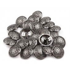 Metallknöpfe Größe 21,6 mm - nickel antik