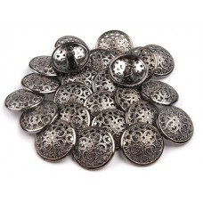 Metallknöpfe Größe 25 mm - nickel antik
