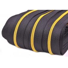 Spirale Reißverschluss mit goldenen Zähnchen 3 mm endlos