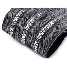 Kunststoff Reißverschluss 5 mm endlos - silber