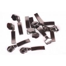 Dekorative Schieber zu Spirale Reißverschlüssen 5 mm - antrazit