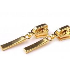 Dekorative Schieber zu Kunststoff Reißverschlüssen 5 mm - gold
