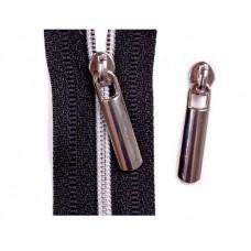 Dekorative Schieber zu Spirale Reißverschlüssen 3 mm - silber