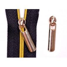 Dekorative Schieber zu Spirale Reißverschlüssen 3 mm - gold