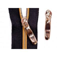 Dekorative Schieber zu Spirale Reißverschlüssen 5 mm - gold