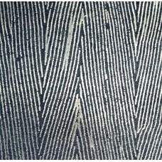 Jeansstoff blau mit geflockten grau Streifen (11,40 €/lfm)