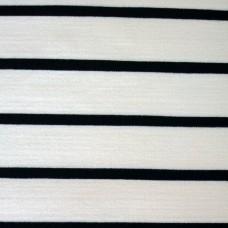 Elastischer Viskose Jersey weiß mit schwarz Streifen