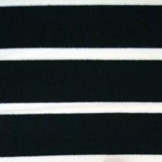 Elastischer Viskose Jersey - schwarz mit weißen Streifen