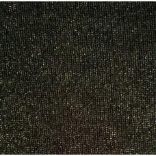 Baumwolle Sweatshirt mit Lurex - schwarz