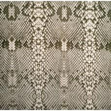 Bedruckter Baumwolljersey mit Schlangenmuster - khaki, braun, wollweiß