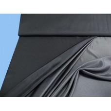Changierender Futterstoff - schwarz, grau