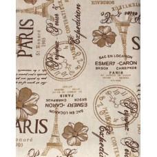 Baumwolle mit Leinen Taschenstoff mit Vintage Druck