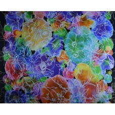 Schals aus bedruckter Naturseide (21,60 €/lfm)