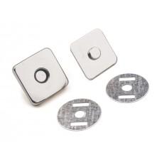 Magnetischer Verschluss viereckig 18x18 mm - nickel