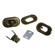 Eisenlegierung Drehverschluss für Taschen 37mm x 21mm