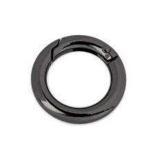 Ring Karabiner 18 mm - schwarz nickel