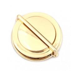 Zinklegierung Drehverschluss für Taschen Vergoldet 62mm x 52mm