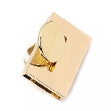 Zinklegierung Drehverschluss für Taschen Vergoldet 48mm x 30mm