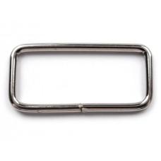 Taschenschlaufe viereckig 16x39 mm - nickel